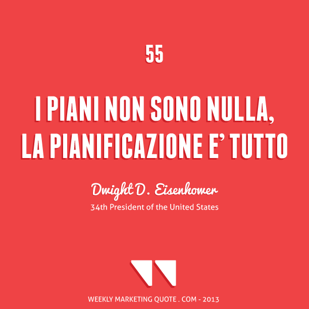 citazione marketing Dwight D. Eisenhower