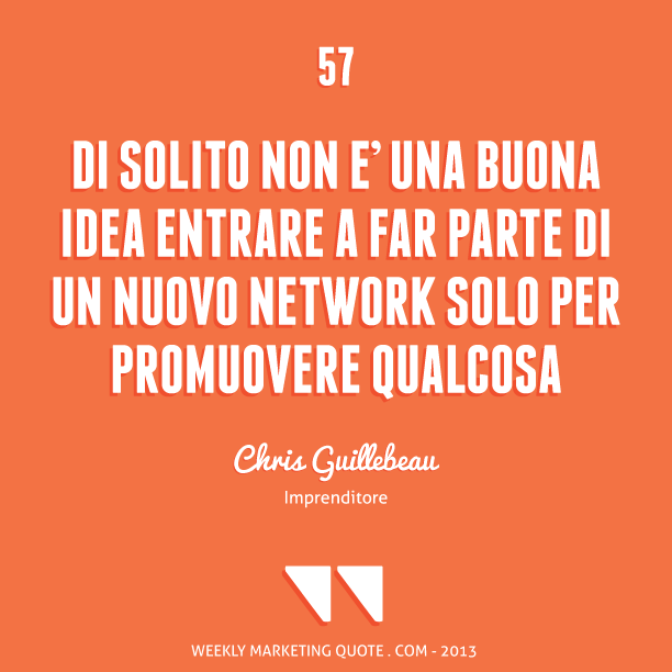 citazione di marketing Chris Guillebeau